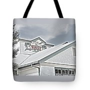 Apple Barn Winery Sign In Grayscale Tote Bag