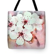 Apple Blossoms Pink - Digital Paint Tote Bag