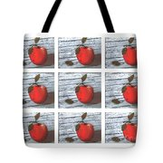 Apple Collage Tote Bag
