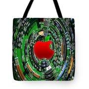 Apple Computer Abstract  Tote Bag