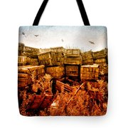 Apple Crates And Crows Tote Bag by Bob Orsillo