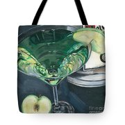 Apple Martini Tote Bag by Debbie DeWitt