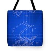 Apple Mouse Patent 1984 - Blue Tote Bag
