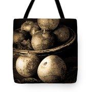 Apple Still Life Black And White Tote Bag