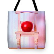 Apple Still Life With Doll Chair Tote Bag by Edward Fielding