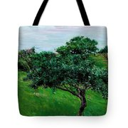Apple Trees By The Sea Trouville Tote Bag