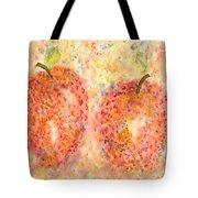 Apple Twins Tote Bag