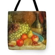 Apples And Grapes Tote Bag