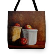 Apples And Jars Tote Bag