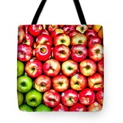 Apples And Oranges Tote Bag