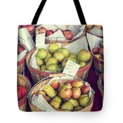 Apples And Pears For Sale Tote Bag