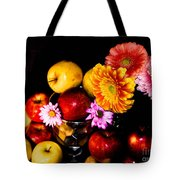 Apples And Suflowers Tote Bag