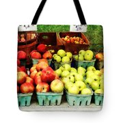 Apples At Farmer's Market Tote Bag