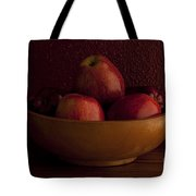 Apples In Bowl Still Life Tote Bag
