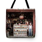 Apples. The Natural Temptation - Farmer And Old Farm Signs Tote Bag