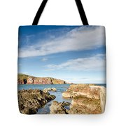 Approach To St Abbs Harbour Tote Bag
