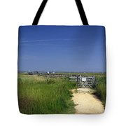 Approach To The Wooden Bridge - Newtown Tote Bag