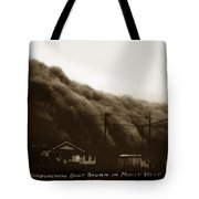 Approaching Dust Storm In Middle West By Frank D. Conard Circa 1938 Tote Bag
