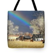 Approaching Storm At Cattle Ranch Tote Bag
