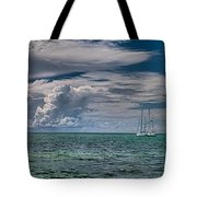 Approaching Storm At Whale Harbor Tote Bag