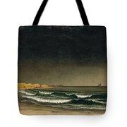 Approaching Storm. Beach Near Newport Tote Bag