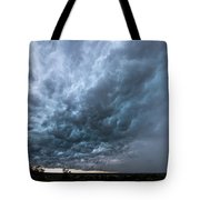 Approaching Storm Over Belton-sunset Tote Bag