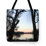 Approaching Sunset Silhouettes Tote Bag