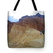 Approaching The Jagged Peaks In Golden Canyon In Death Valley National Park-california  Tote Bag