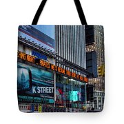 approaching Times Square Tote Bag