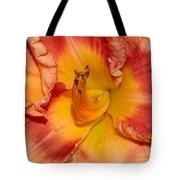Apricot Daylily Close-up Tote Bag
