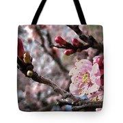 Apricot Floral Tote Bag