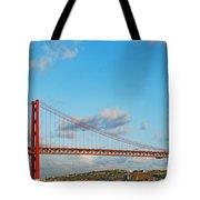 April 25th Bridge In Lisbon Tote Bag
