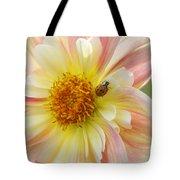 April Heather Dahlia With Ladybug Tote Bag