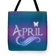 April Name Art Tote Bag