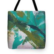 Aqua And Green Tote Bag