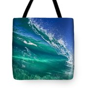 Aqua Blade Tote Bag by Sean Davey