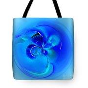 Aqua Blue Orb Tote Bag