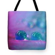 Aqua Blue Water Droplets Tote Bag