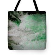 Aqua Falls Tote Bag