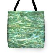 Aqua Green Water Art 2 Tote Bag