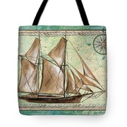 Aqua Maritime 2 Tote Bag by Debbie DeWitt