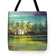 Aqua Sunset Tote Bag