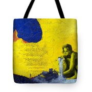 Aquarius Abstract Tote Bag