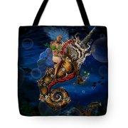 Aquatic Goddess On Unicorn Seahorse Tote Bag