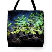 Aquatic Leaves Tote Bag