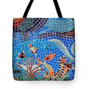Aquatic Mosaic Tile Art Tote Bag
