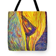 Arabesque Flame Tote Bag