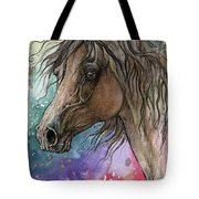Arabian Horse And Burst Of Colors Tote Bag