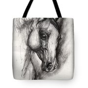 Arabian Horse Drawing 12 Tote Bag