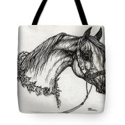 Arabian Horse Drawing 22 Tote Bag